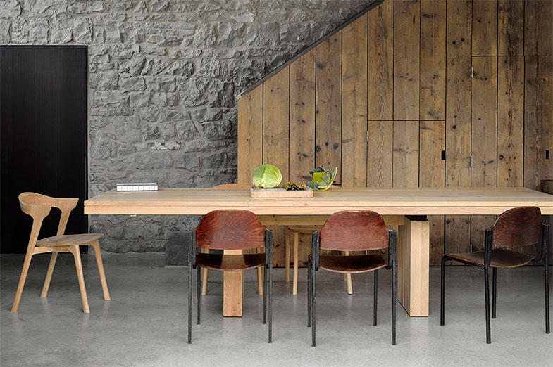 Ethnicraft Solid Oak Wood Dining Table and Chairs | Rouse Home