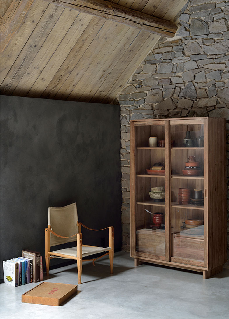 Ethnicraft Teak Bookcase with Glass Doors | Rouse Home